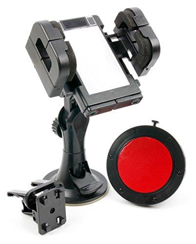 DURAGADGET Soporte para Tomtom GO 520/5200 / 620/6200 - Rotación 360 Grados - con Abrazaderas y Fuerte Ventosa