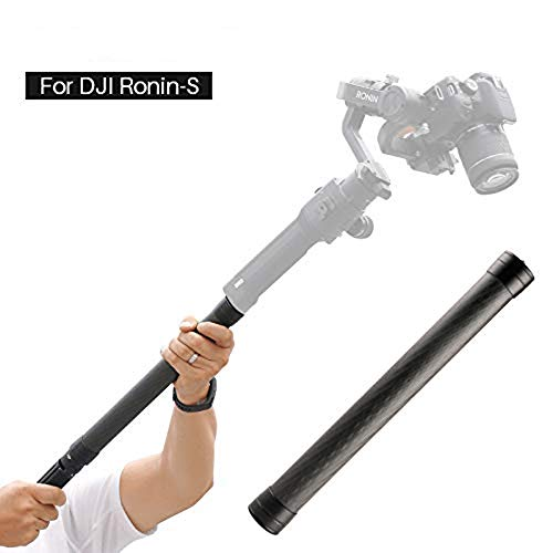 Linghuang Carbon Verlängerung Einbeinstativ kompatibel für DJI Ronin S Moza Air Cross FeiyuTech AK4000 Zhiyun Crane 2 Smooth 4 Stabilisator Extension Rod Stick 1/4 \'\' 3/8 \'\' Gewinde