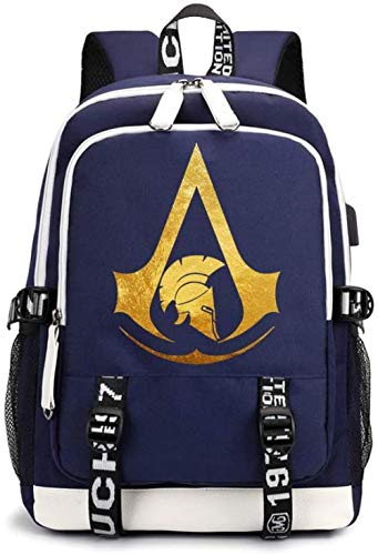 Assassin Creed Casual Backpack Version Simple College Student Bag Cartoon Print Backpack 30 X 15 X 43cm