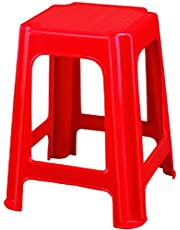 Nilkamal Plastic Red Stool 07
