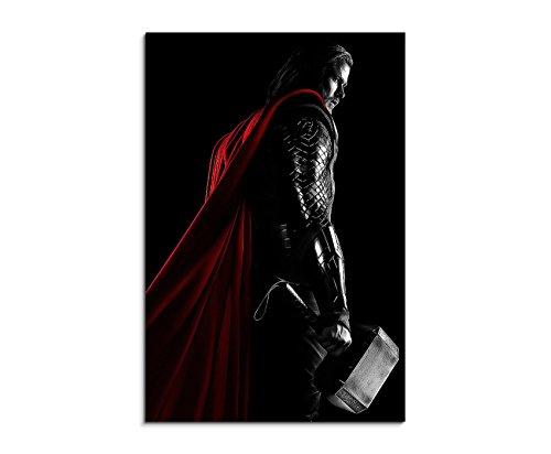 bestforhome Thor Hammer 90x60cm Bild als Schoener Kunstdruck auf echter Leinwand als Wandbild auf Keilrahmen