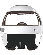 Breo Kopmassageapparaat met Oogwarmte, Anti-migraine Hoofdmassageapparaat, Aanpasbare Muziek Massage voor Hoofdpijnbestrijding Slapeloosheid, Lederen Versie - iDream5s