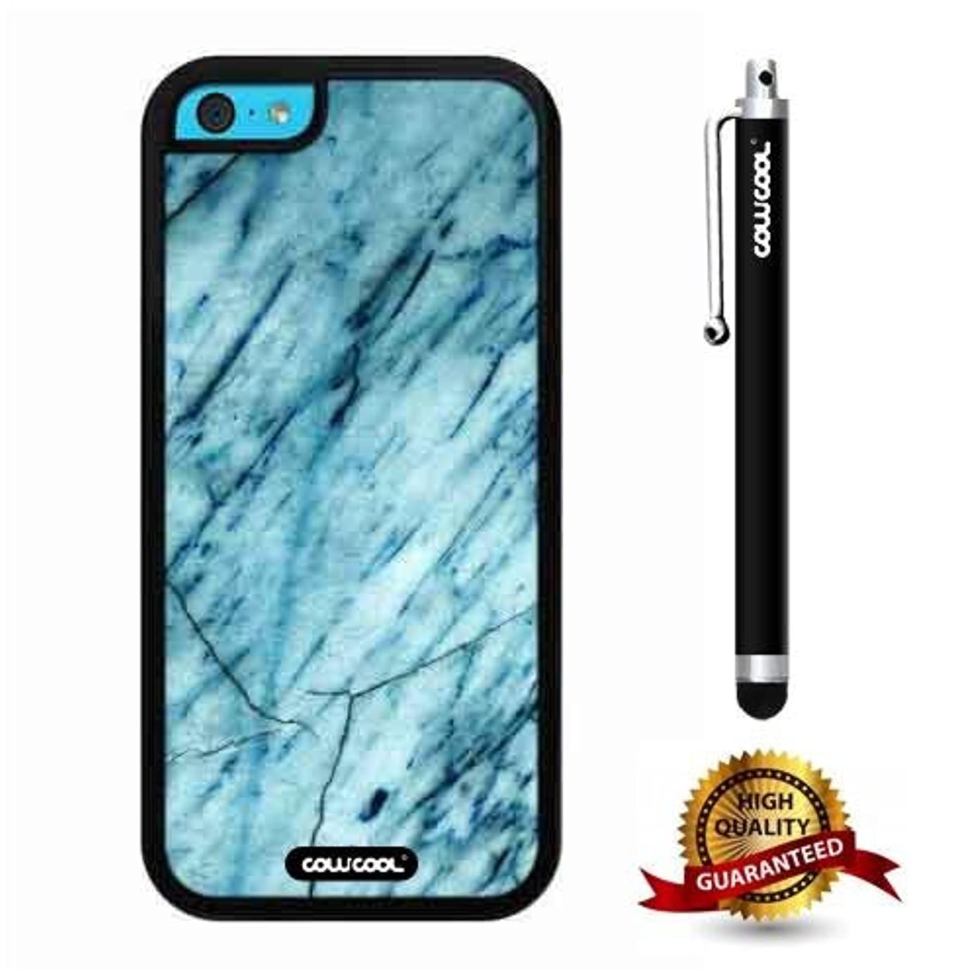 iphone 5C Case, Marble Pattern Case, Cowcool Ultra Thin Soft Silicone Case for Apple iphone 5C - Slash Grid Marble Texture
