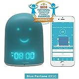 Blue REMI - Children Clock - Sleep Trainer - Toddler Sleep Tracker - Night Light & White Noise Sound Machine - mp3 Speaker - Secure Two-Way Audio Monitor - Smartphone Music Speaker - Time-to-Rise Face