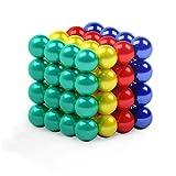myHodo Bolas Magnéticas de Colores, Bolitas Magnéticas para Aliviar el Estrés, Idea de Regalo Antiestrés, Magnet Balls, Imanes Pequeños Versátiles para Superficies Magnéticas (64 pzas, Colores)
