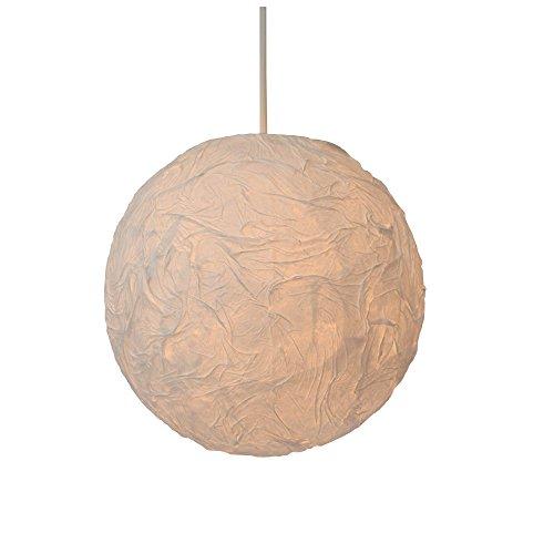 美濃和紙製 ちょうちん ボール型インテリア照明ライト 和紙固め しわ模様入り 小サイズ