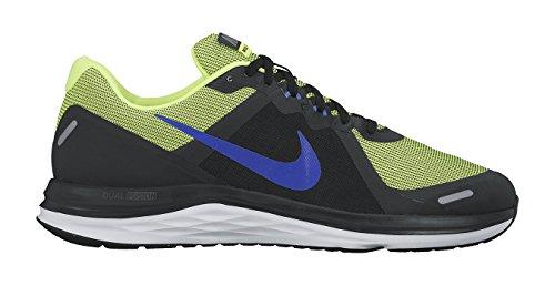 Nike Dual Fusion X 2 - Zapatillas de running, Hombre, Negro/Azul/Verde/Blanco (Black/Racer Blue-Volt-White), 39