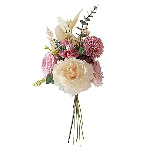 Auink Ramo Artificial para Bodas, combinación de Flores para la Novia, Ramo...
