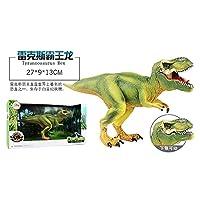 下顎シミュレーションモデルギフトボックスのジュラ紀の大きな固体恐竜のおもちゃの部分男の子と女の子のための子供のプラスチック製の恐竜のおもちゃの誕生日プレゼント高シミュレーション恐竜シリーズティラノサウルス ティラノサウルス ケラトサウルス ベヒーモスドラゴン レックスティラノサウルス(赤) レックスティラノサウルス(緑) スピノサウルス シックルドラゴン 混乱したドラゴン ニウロン アロサウルス ヴェロキラプトル+ダブルトゥース翼竜 ダブルクラウンドラゴン+ネイルドラゴン ヘテロドントドン+小さな鎌のドラゴン (レックスティラノサウルス(緑))
