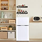 Mini Fridge with Freezer, Small Refrigerator 2 Door Compact Fridges for Apartment,Bedroom, Office, with 3.2 Cu.Ft, Energy Saving, Low Noise, White