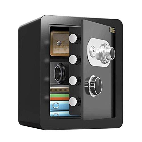 SMLZV Cajas fuertes, Caja de seguridad electrónica digital Securit acero segura ocultos de construcción con la cerradura, pared o un armario de anclaje de diseño for la seguridad del hotel BusinessGun