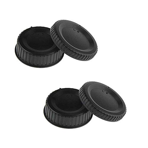 Camera Body Cap & Rear Lens Cover Compatible for Nikon D850 D810 D800 D780 D750 D610 D500 D7500 D5500 D3500 D3400 D3300 D3200 D90 D7000 w/AF/AF-S/AF-P