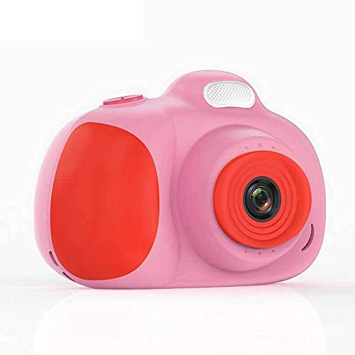 MOOLFN Video Niños Niños Selfie Toy Camera para Niños Mini Cámara HD Dual-Cámara Pequeño Regalo De Cumpleaños Pequeño Electrónica Digital Take Fotografías Fotos,Rosado