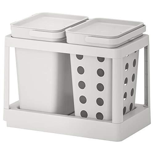 My- Stylo Collection - Solución de clasificación de residuos, ventilación extraíble, color gris claro, tamaño del producto: Volumen: 20 litros