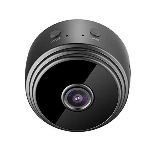 ZXCWE 1080p WiFi Mini Cámara, Cámara De Vigilancia, Cámara De Niñera Inalámbrica Portátil con Visión Nocturna Infrarroja, Detección De Movimiento para Exteriores