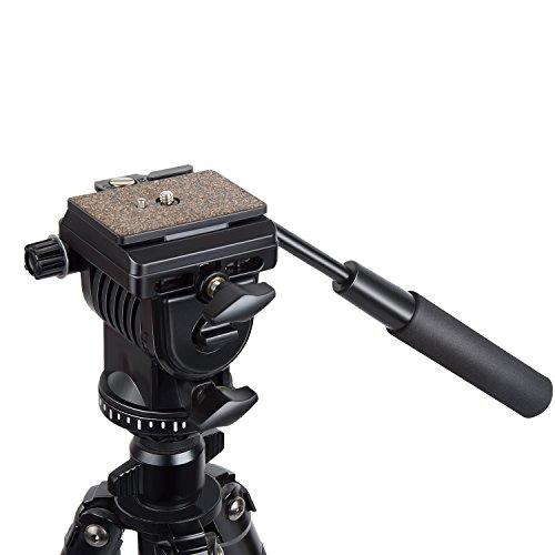 Orsda Video Neiger Stativköpfe Video Stativ Kugelkopf 3 Wege Fluid Head Kamerastativkopf von schwenkbarer hydraulischer Kopf für Panoramabilder geeignet für DSLR Kameras von Canon Nikon und Sony
