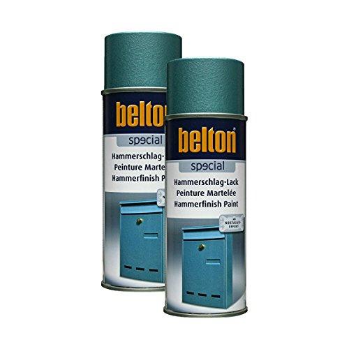 Kwasny 2X 323 004 Belton Special Hammerschlag-Lack blau 400ml