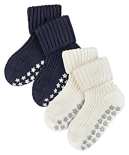 FALKE Unisex Baby Cotton Catspads 2-Pack B HP Hausschuh-Socken, Mehrfarbig (Sortiment 10), 80-92 (2er Pack)