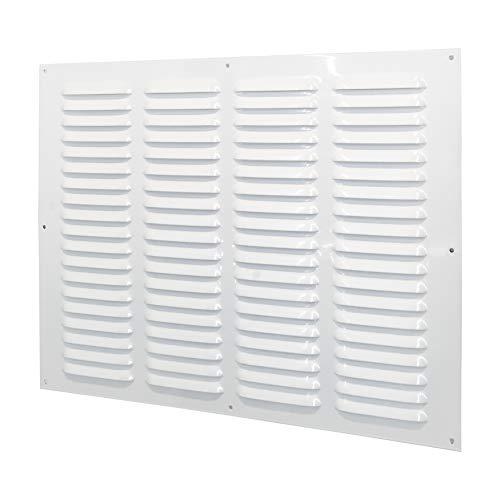 Rejilla de ventilación metálica (40 x 30 cm), color blanco