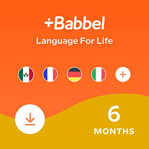 Babbel: Learn a New Language – Choose from 14 Languages including French, Spanish & English - 6 Month App Subscription for iOS, Android, Mac & PC [Online Software Download Code]