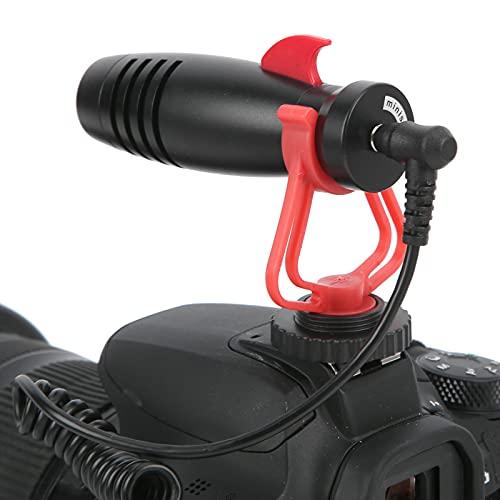 CUEA Micrófono de Condensador de cámara, no es Necesario cargarlo Sistema de micrófono de Condensador para entrevistas portátil Operación Simple y Conveniente para el hogar para Fiestas