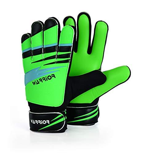 WARRIOR - Guantes de portero de fútbol para niños, niños, adultos, guantes de portero, protección de palmas súper agarre (8 – adecuado para M-L adulto)