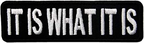 It is What It is Biker Patch Motorcycle Vest MC Club Tactical Morale Embroidered Patch Iron product image