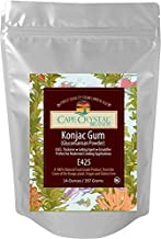 Premium Konjac Gum Glucomannan Powder by Cape Crystal Brands - 100% Organic Thickener, Gelling Agent & Emulsifier - High Viscosity & Water Soluble - Vegan & Gluten Free - Kosher Certified – 14Oz