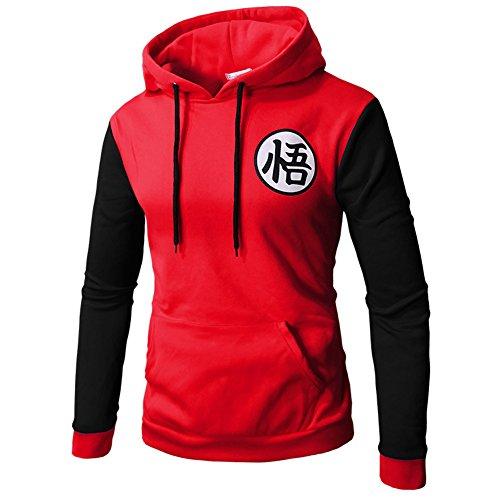 PIZZ ANNU Dragon Ball Sweaters Goku Sudadera Pullover Sudadera Classic Dragonball(Rojo M)