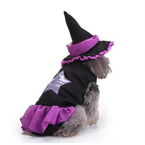 AAC - Falbala y Sombrero de Mago para Perro, Color Morado