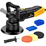 Buffer Polisher, 6 Inch Dual Action Polisher with Variable Speeds, Detachable Handles for Car Polishing, Sanding, Waxing, CHANTPOWER