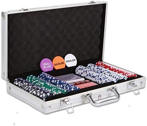 NOLIE Casino Poker Chip Set 300 PCS with Reinforced Aluminum Case for Gambling 11 5 Gram product image