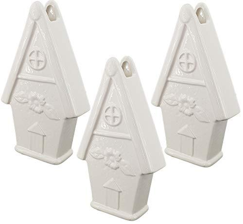 Luftbefeuchter für Heizung Set inkl. Haken - Keramik Wasserverdunster - weiß - Wasserverdunster verdampfer verdunster Luftreiniger - Haus - 3 Stück