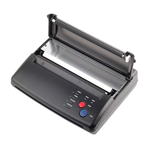 Black Tattoo Transfer Stencil Machine Thermal Copier with 10 pcs transfer Papers