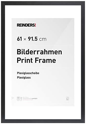 REINDERS® Bilderrahmen für Maxi-Poster 61x91,5cm - Wechselrahmen schwarz Holz Modern