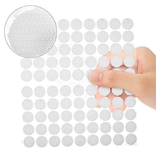 mopalwin Klett Klebe Punkte, Klettpunkte 900 Stück Klettband Self Adhesive Klebend Klettverschluss Rund 450 Paar,10 mm,für Papier, Kunststoff, Glas, Leder, Metall, Kleidungsstücke (Weiß)