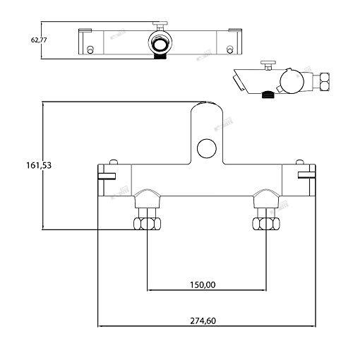 Trading Monkeys – Thermostat-Badewannenarmatur mit Sparfunktion - 6