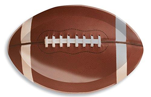 Football-shaped plastic tray