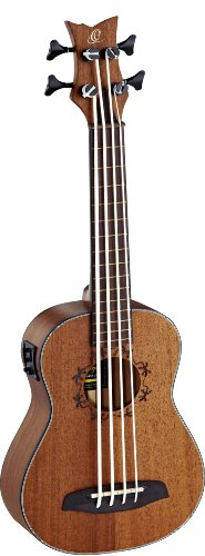 Ortega Guitars Lizard Series 4 String Ukebass, Right (LIZZY-BSFL-GB)