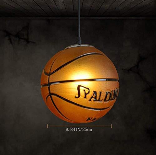 FDKS Moderne Kronleuchter Kreative Amerikanische Zuhause Beleuchtung Bar Restaurant Wohnzimmer Schlafzimmer Moderne Minimalistische Fußball Basketball Glas Kronleuchter mit Heimgebrauch,Fußball