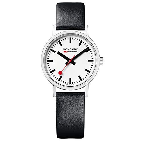 Mondaine Classic - Schwarze Lederuhr Damen, A658.30323.16SBB, 30 MM