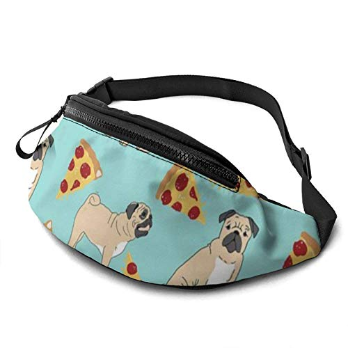 Pug Pizza Party Waist Pack/Fanny Pack/Travel Bag for Men Women Outdoors Sports Marathon Hiking