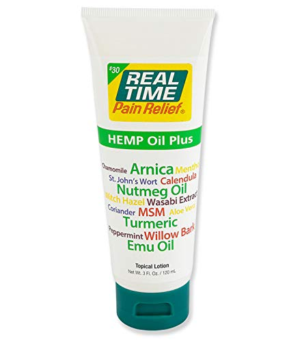 Real Time Pain Relief Hemp Oil Plus (3 Ounce Tube)