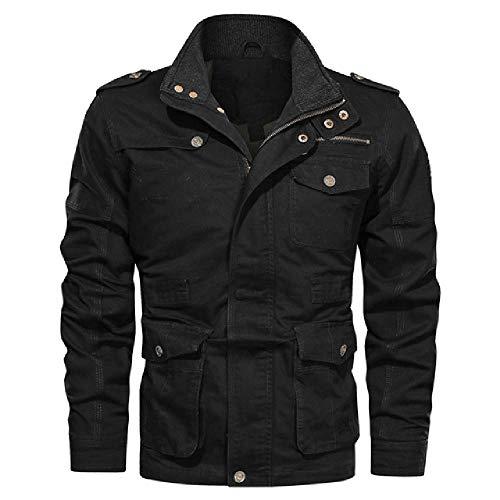 Hombre Bomber chaquetas Hombre Denim Chaquetas Causal cuero Outwear con Stand Collar Windbreaker