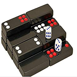 Chinese Pai Gow Set, 32 Black And White Melamine Pai Gow
