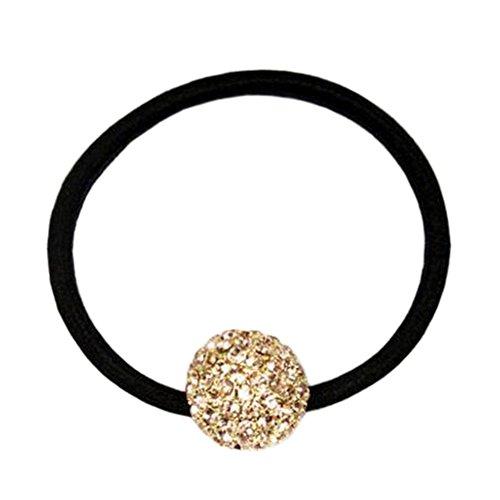 Stylish Ladies Headdress Elastics Cravates pour cheveux Boucle de cheveux Boule de cristal Champagne