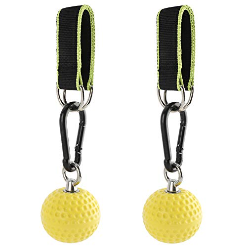 FREETRACK Climbing Pull Up Power Ball Hold Grips with Straps, Climbing Solid Training Cannonball Bomb Ball, Non-Slip Hand Grips Strength Trainer Exerciser for Bouldering, Pull-up, Fitness, Workout