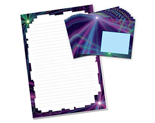 Briefblock mit Umschlag für Kinder Briefpapier-Set (Block A4 mit 25 Blätter + 15 Umschläge)