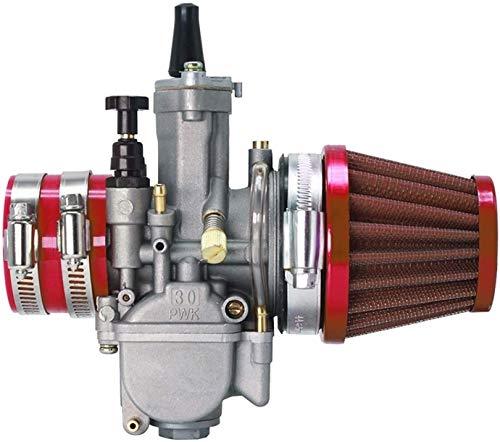 21 24 26 28 30 32 34 / Ajuste para PWK/carburador con filtro de aire adaptador de goma para carburador de 50 cc, 70 cc, 90 cc, 110 cc 125 cc ATV Scooter Dirt Bike Reemplaza (Color: 30 mm)