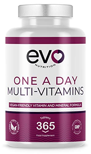 Multivitamins with Vitamin C & Zinc | Vegan-Friendly Formula | 365 Tablets - 1 Year Supply | Contributes to Normal Function of Immune System | With Iron | Made in UK
